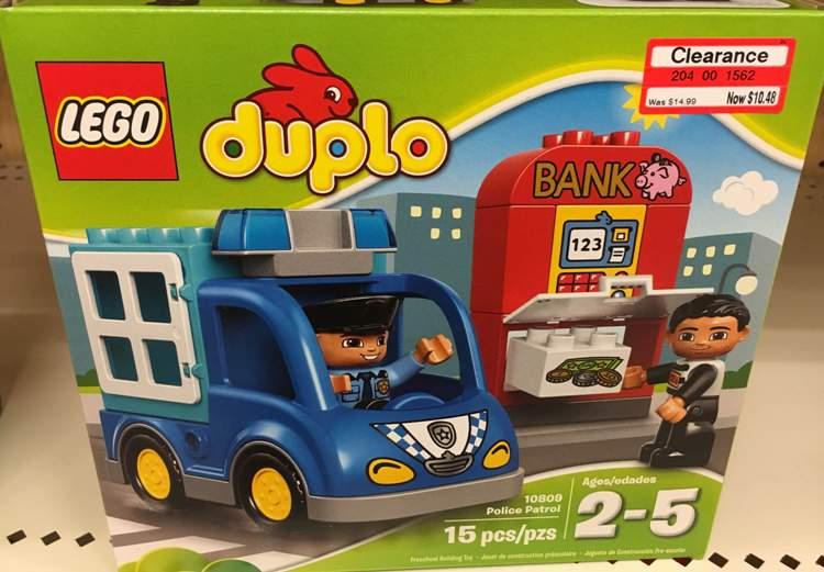 target clear lego duplo blue car