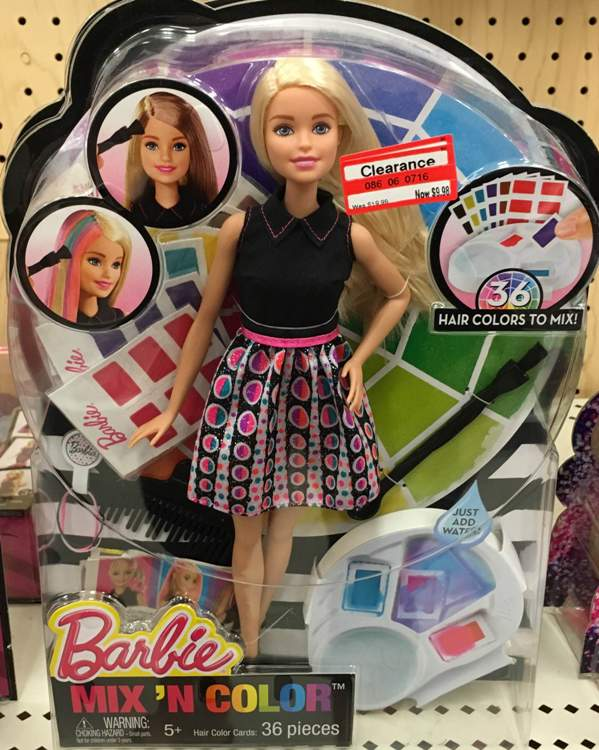 target clear toy barbie