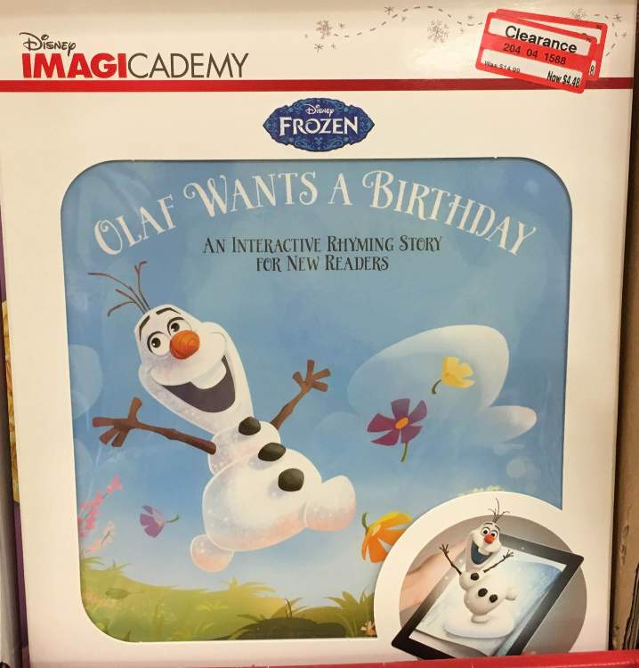 target clear toy olaf