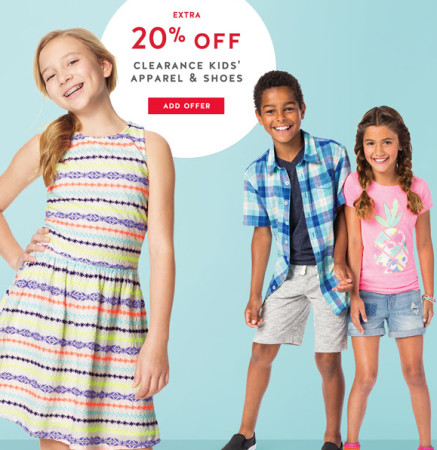 Extra 20% off kids' clearance clothing | All Things Target