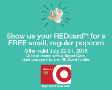 target free popcorn