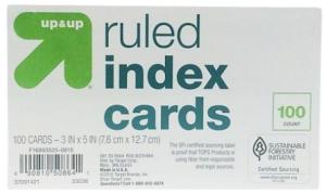 target index cards