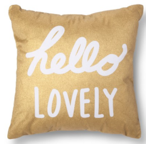 target lovely pillow