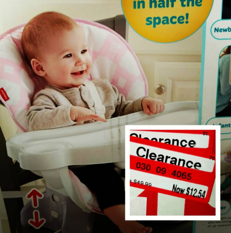 target read clear new katie baby chair