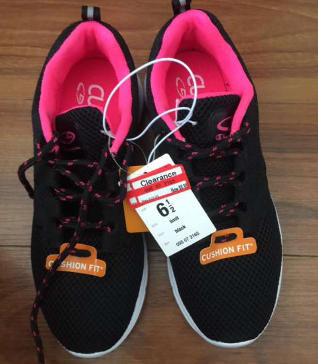 target read clear shoe black
