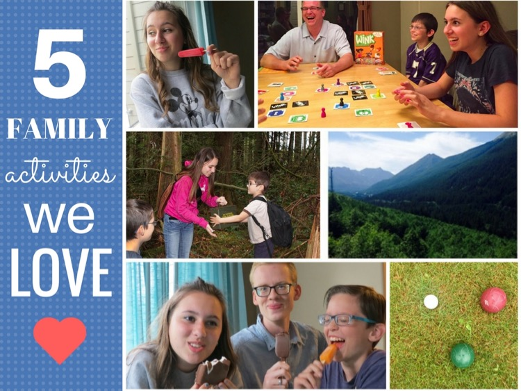 5 Family Activities we love