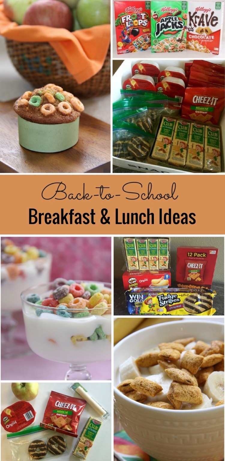 Back-to-School Breakfast & Lunch Ideas with Kellogg's and Keebler