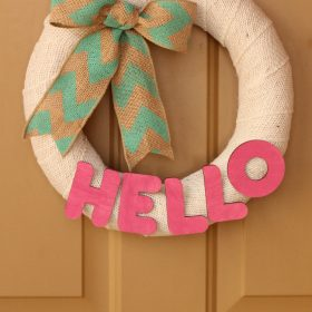 Pool Noodle Wreath Tutorial