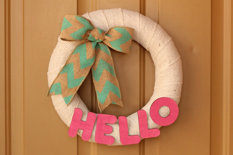 DIY Pool Noodle Wreath Tutorial