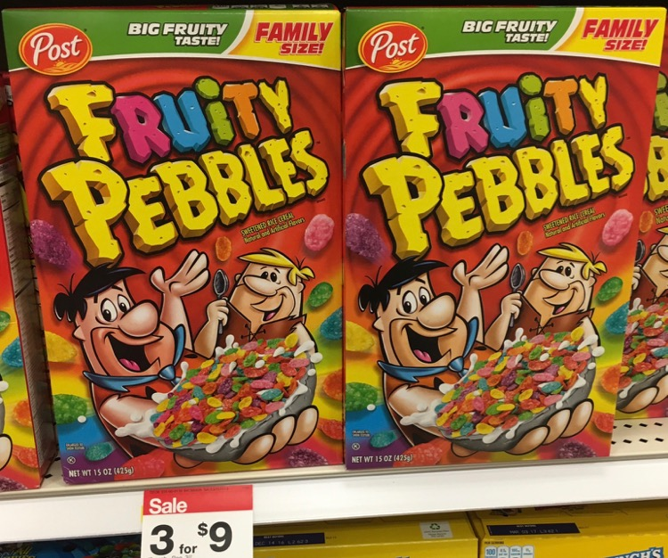 Fruity Pebbles at Target