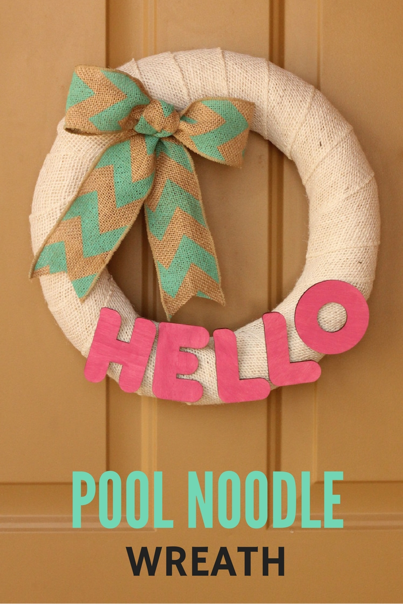 pool noodle wreath great for any season