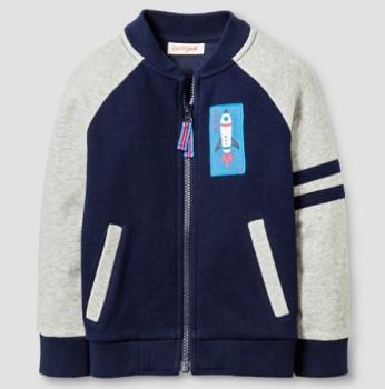 target cat jack jacket blue