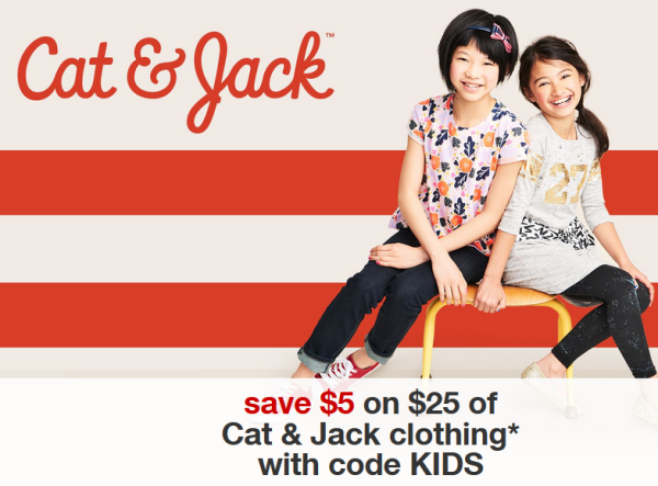 88cd83856 Target.com: Save $5 off $25 Cat & Jack Purchase | All Things Target
