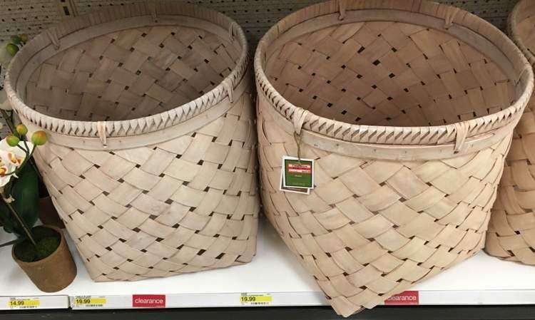 target clear basket 30