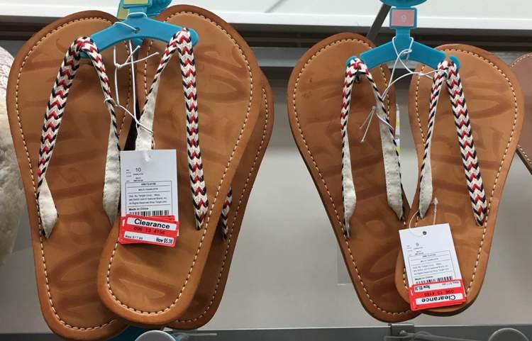 target clear flip flop tan 70