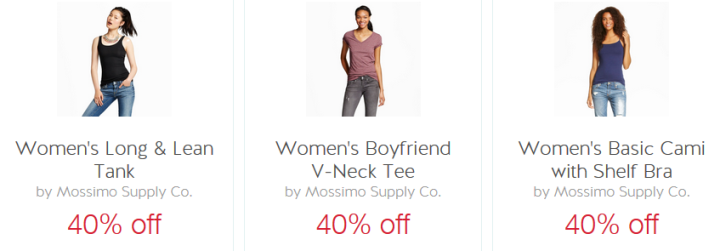 Cartwheel Offers 40 Off Mossimo Supply Co Tees Tanks Camis