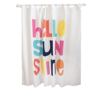 target hello shower curtain