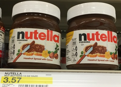 target nutella new