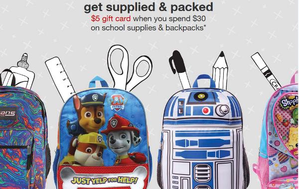 target school supply list pic