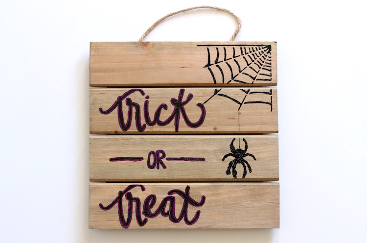 DIY Stenciled Wood Halloween Sign