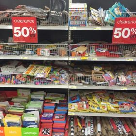 Target: Dollar Spot Black Triangle Items 50% off