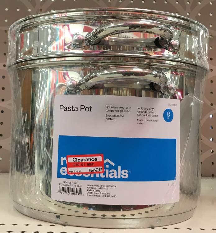 target-pasta-pot-clear