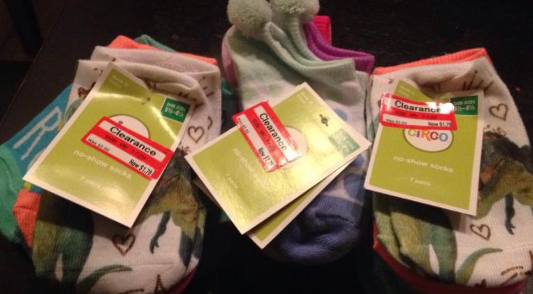 target read clear new lisa socks
