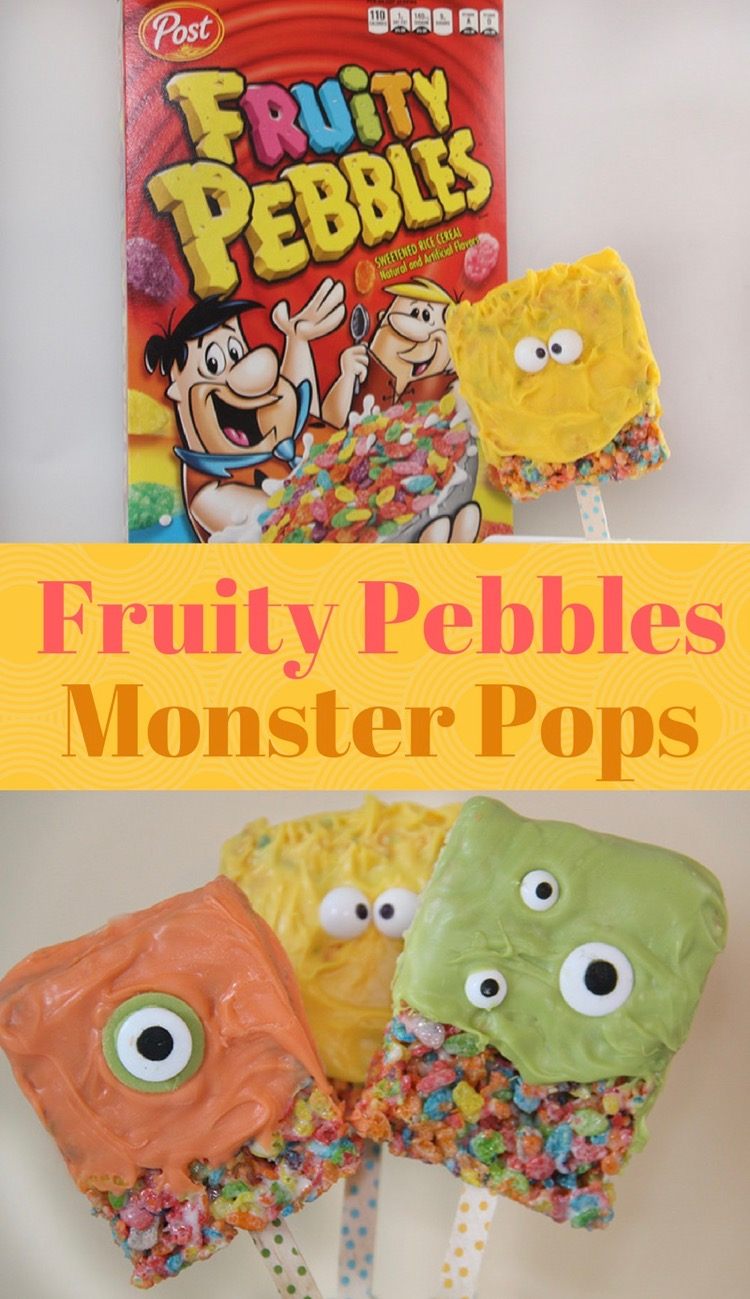 Fruity Pebbles Monster Pops
