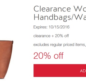 e5ff072710 Cartwheel Offer  Extra 20% off Clearance Women s Handbags   Wallets