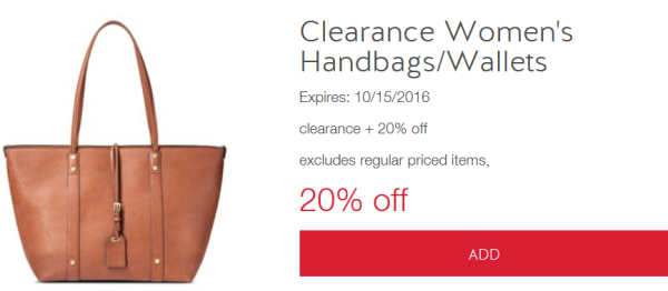 09e3e9426c Cartwheel Offer  Extra 20% off Clearance Women s Handbags   Wallets ...