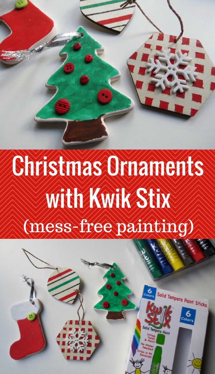 Christmas Ornaments with Kwik Stix (Mess-Free Painting)