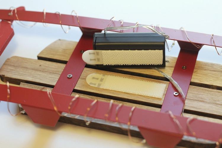 DIY Wood Sled Photo Display
