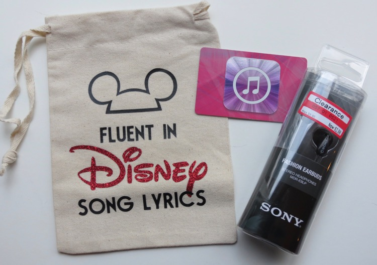 Fluent in Disney Song Lyrics Gift Bag
