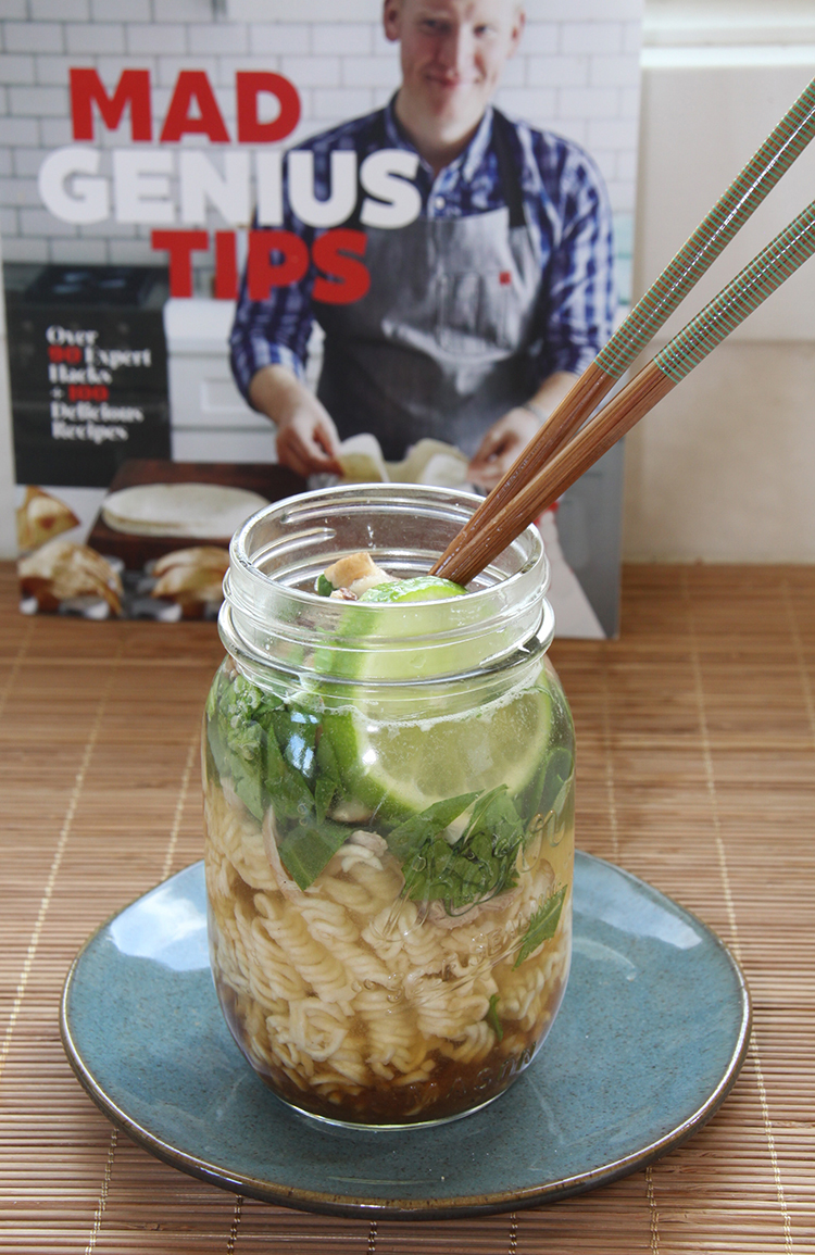 Miso Chicken Noodle Cups from Mad Genius Tips cookbook
