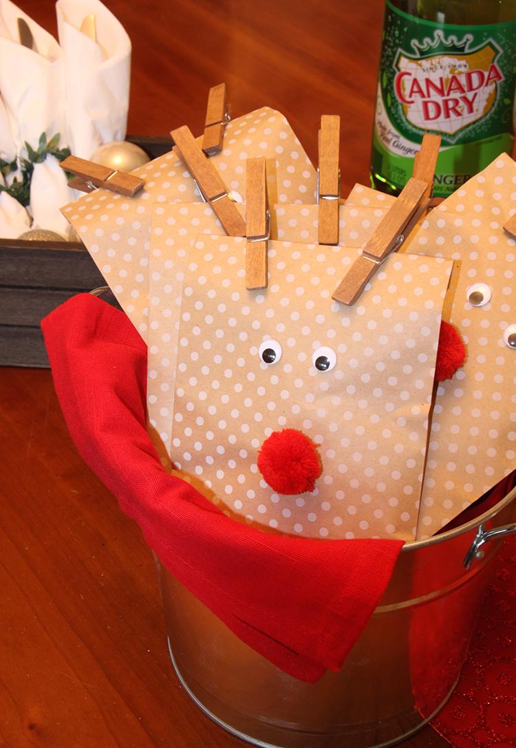 Christmas Reindeer Gift Bags