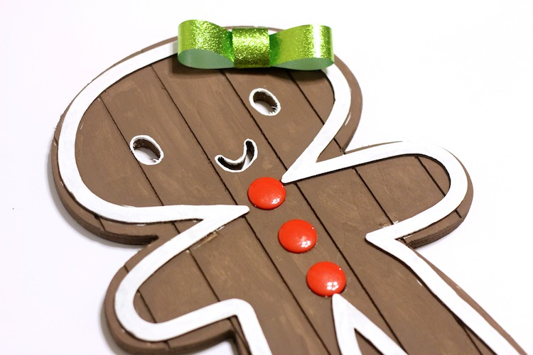 DIY Wood Gingerbread People - Supplies from Target