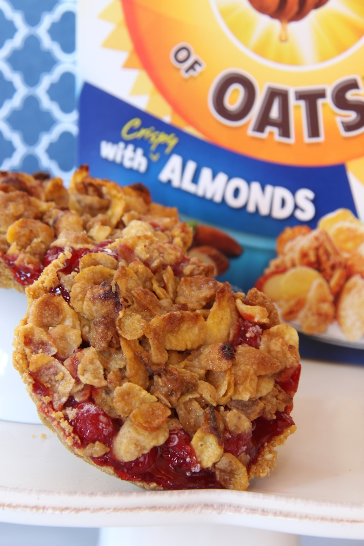 Use Honey Bunches of Oats for crust on Cherry Tarts