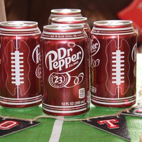 Dr Pepper Football Themed Drink Station