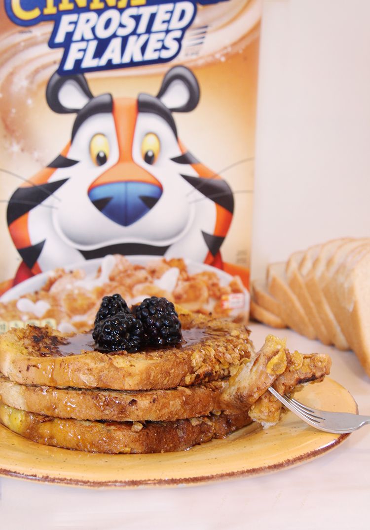 French Toast Recipe with Kellogg's Cinnamon Frosted Flakes