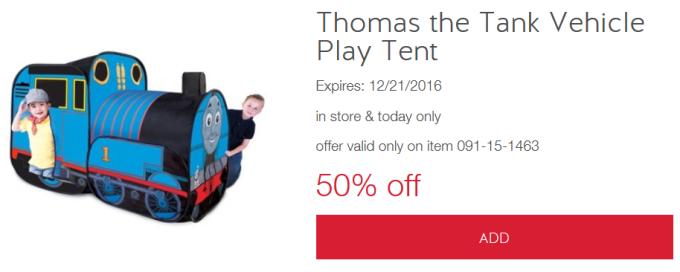 target-toy-cw-thomas  sc 1 st  All Things Target & Target Cartwheel Thomas Play Tent | All Things Target
