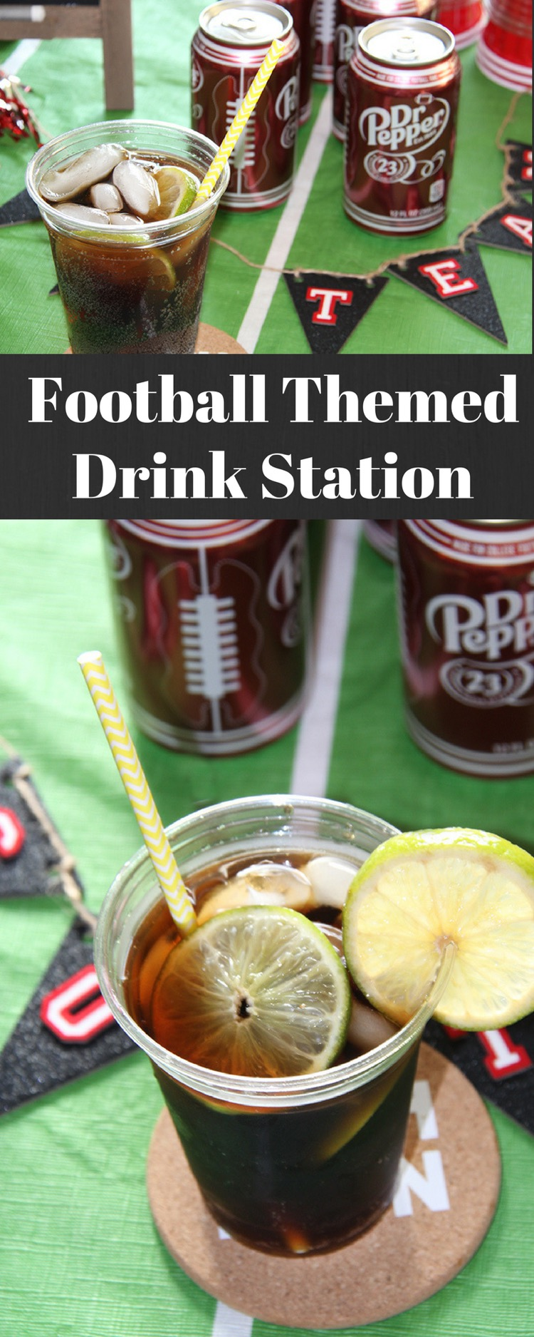 Football Themed Drink Station