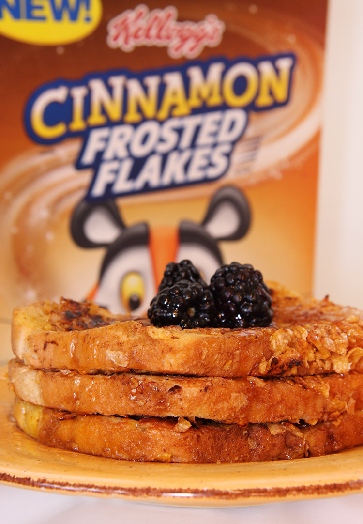French Toast with Kellogg's Cinnamon Frosted Flakes