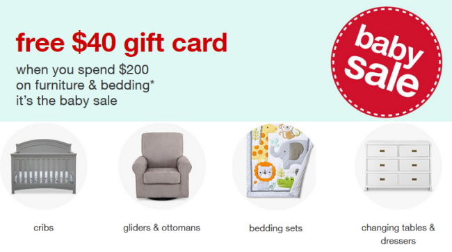 Get $13 Gift Card with $13 Baby Furniture & Bedding Purchase
