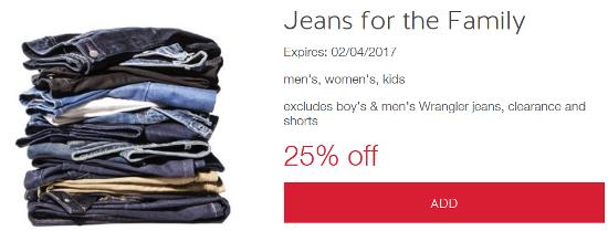 target cw jean offer