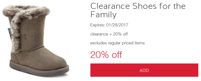target cw shoe clear