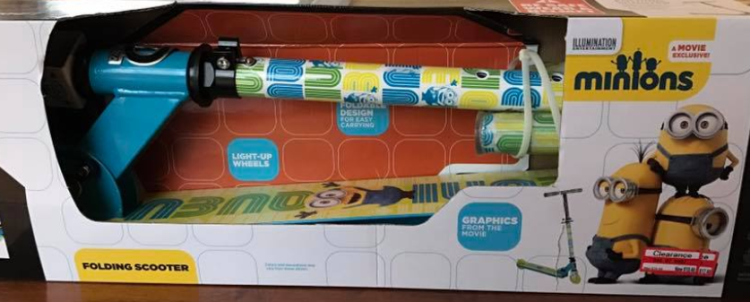 target read clear ashley minion scooter