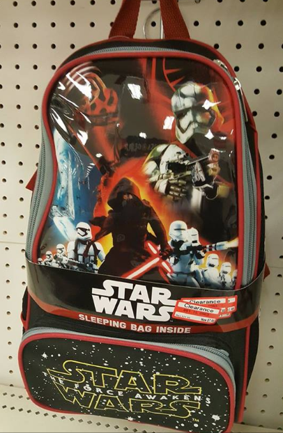 target read clear michael star wars bag