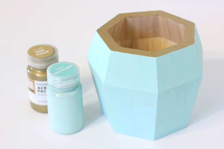 DIY Gold Foil Container
