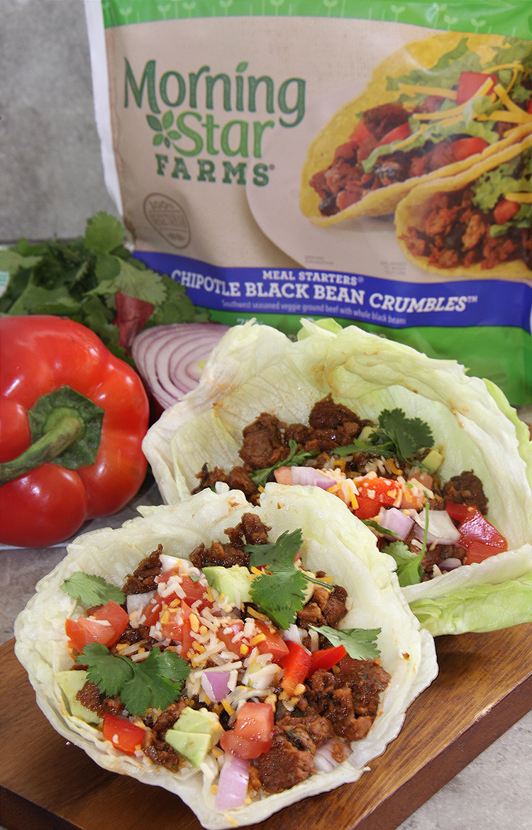 Vegetarian Chipotle Lettuce Wraps with Morning Star Farms