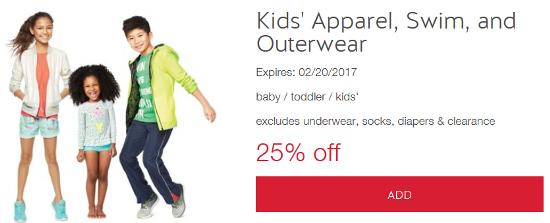 target kids cw apparel